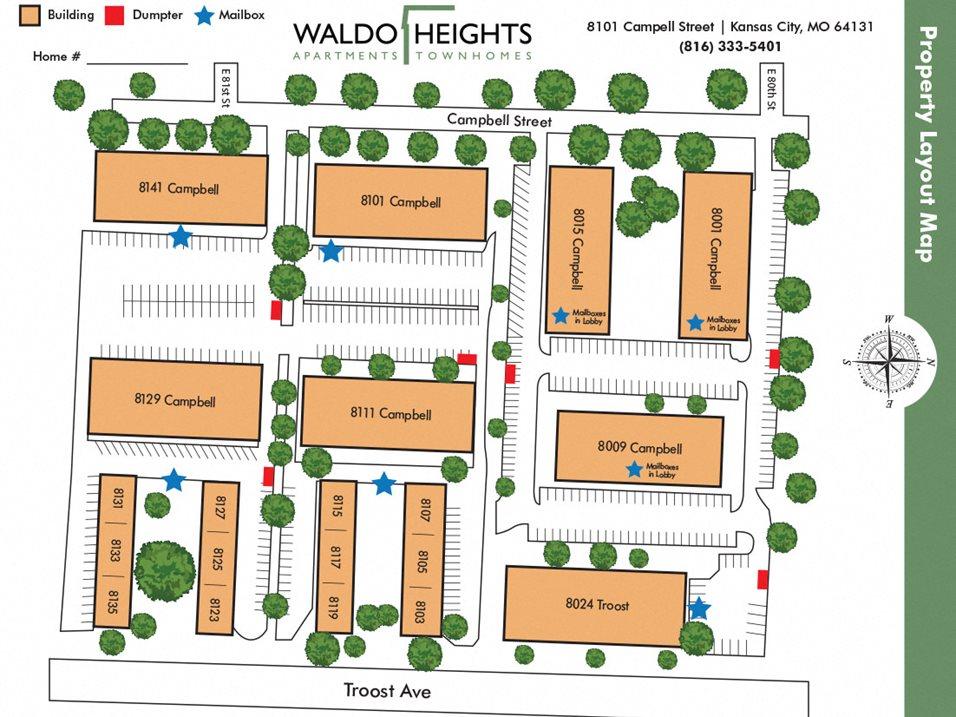 Waldo Heights Map