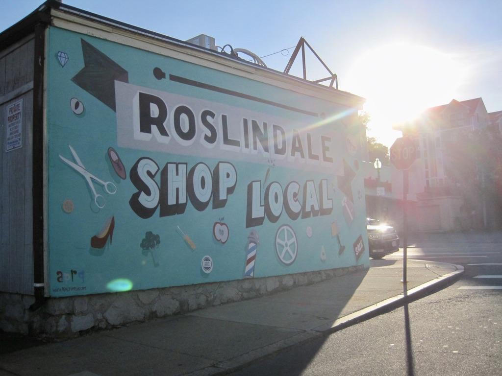 Mural in Roslindale at the Bodega