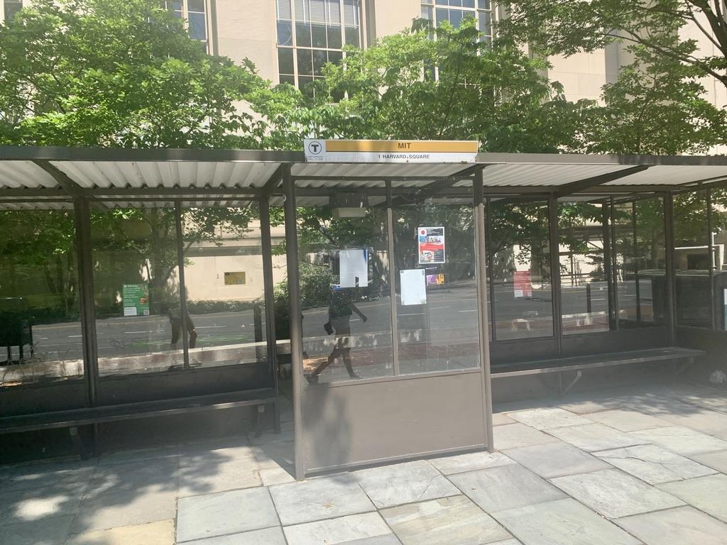 MIT Bus Stop on Massachusetts Ave