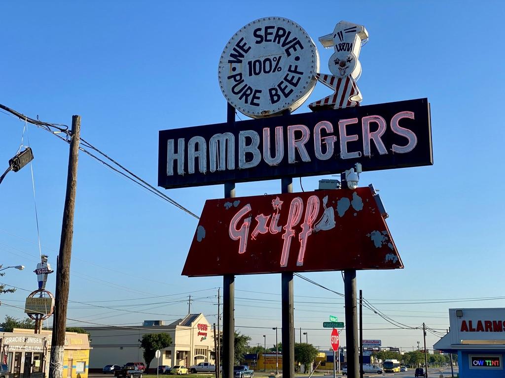 Griff's Hamburgers on S Buckner Blvd