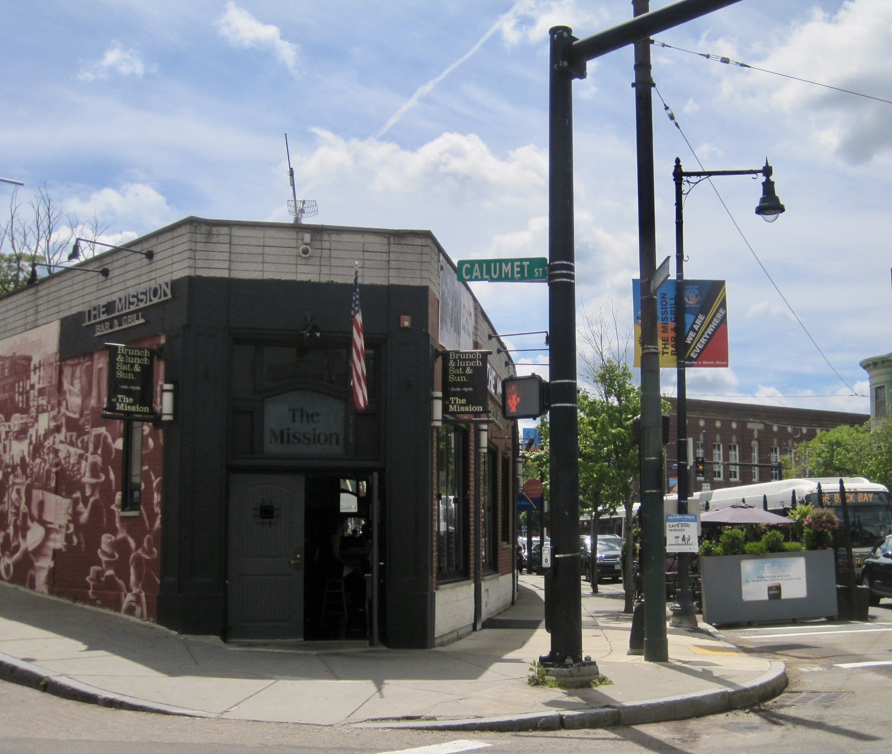 The Mission Bar and Grill on Huntington Ave