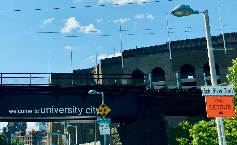 University City Sign near River Trail