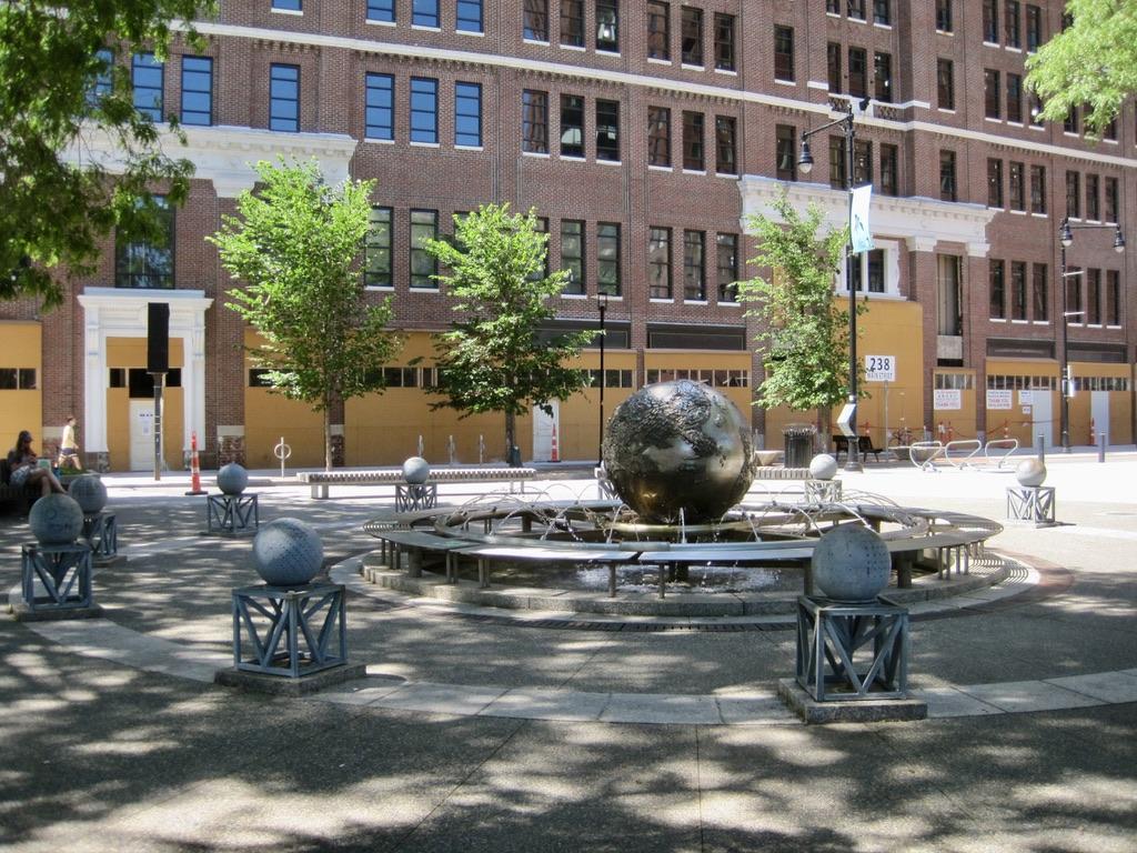 Galaxy: Earth Sphere Fountain near Kendall Square