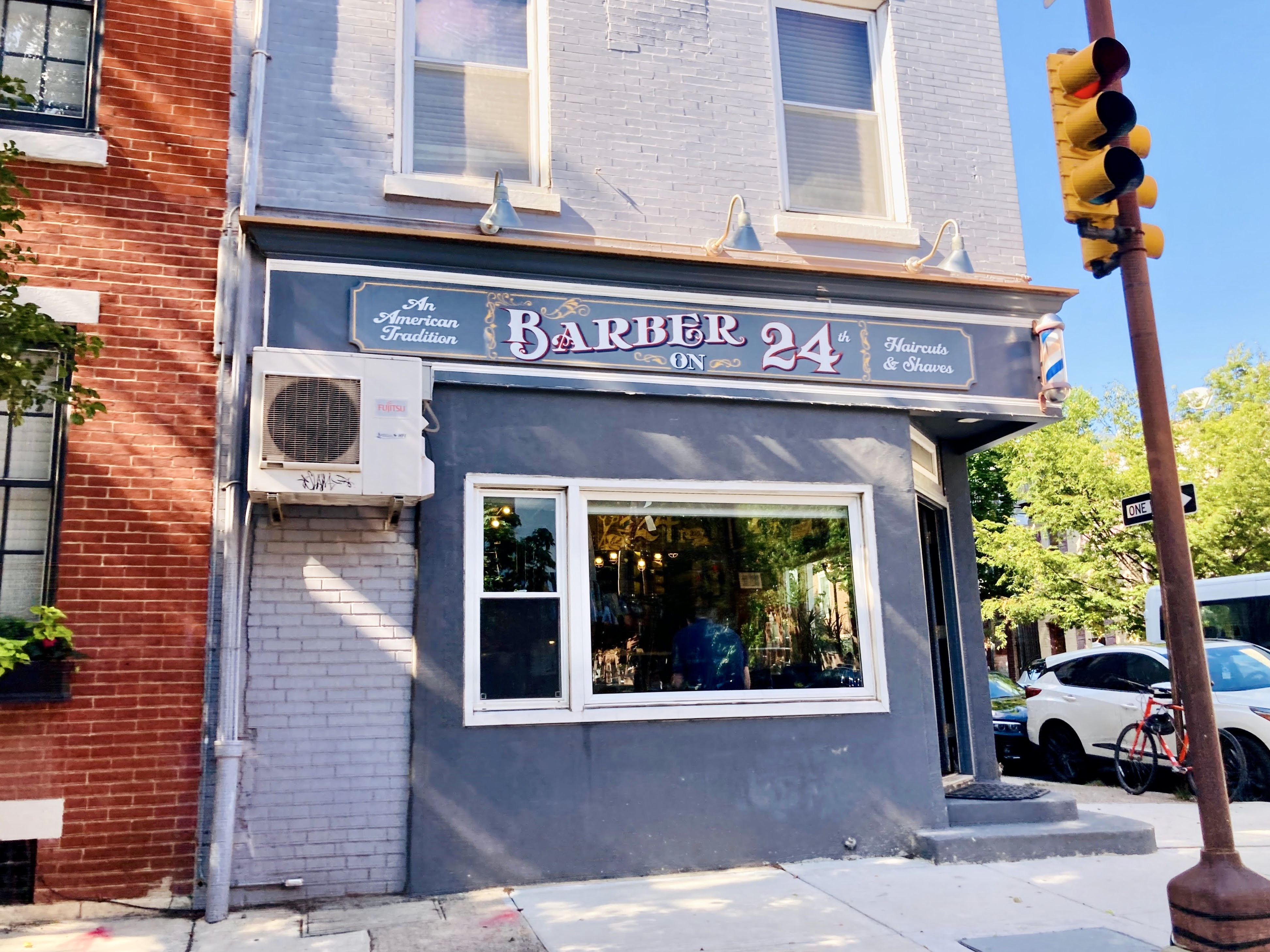 Barber on 24th near Fitler Square