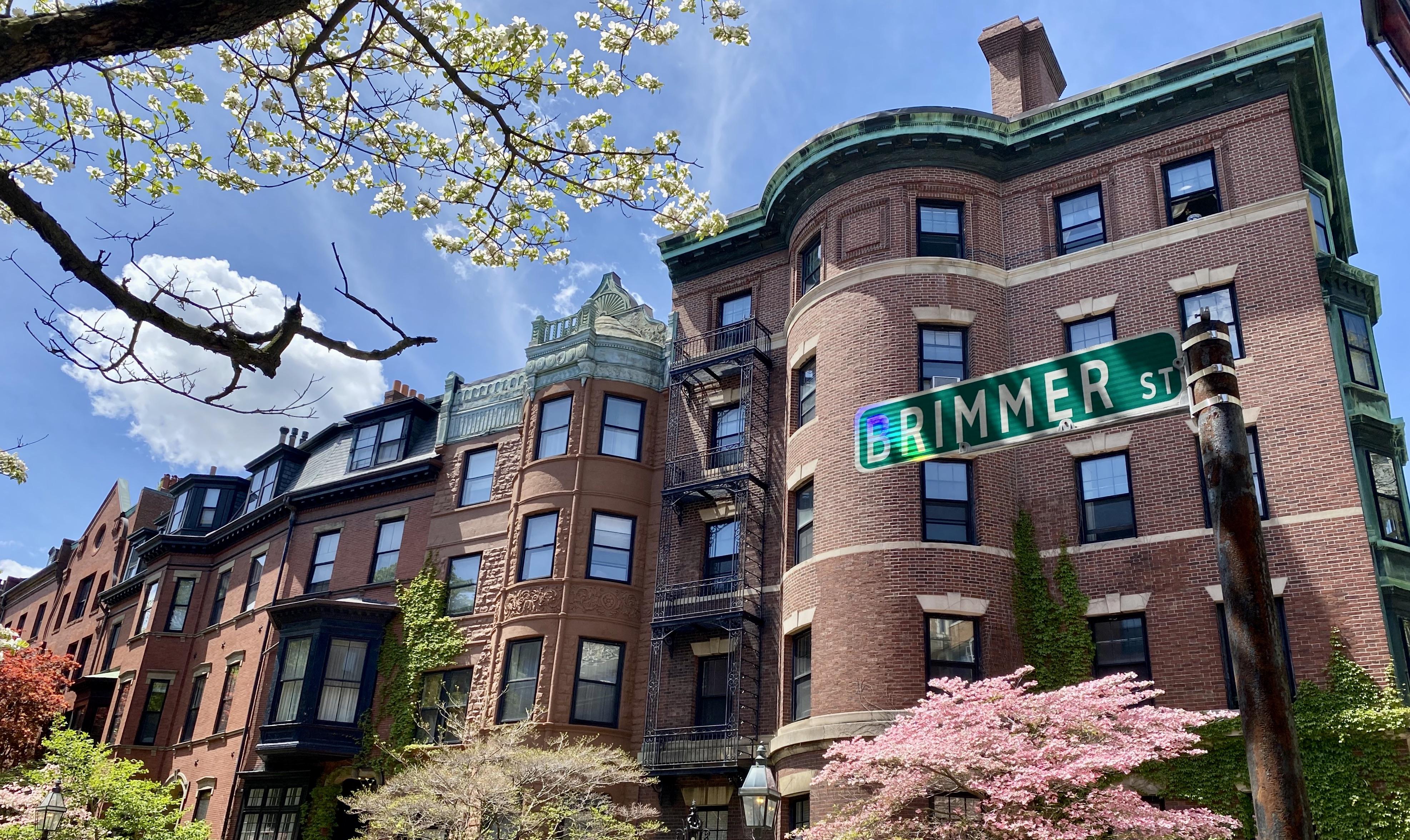 Brimmer Street Brownstones in Boston, MA