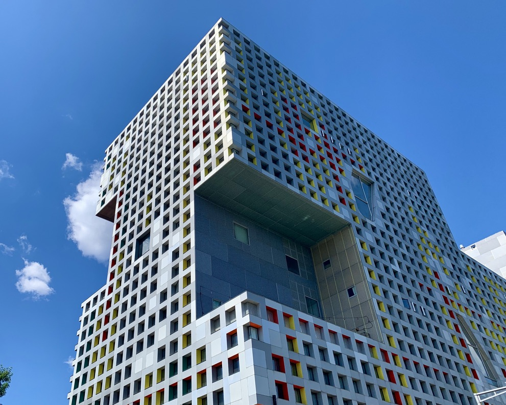 """Simmons Hall AKA """"The Sponge"""" at MIT in Cambridge"""