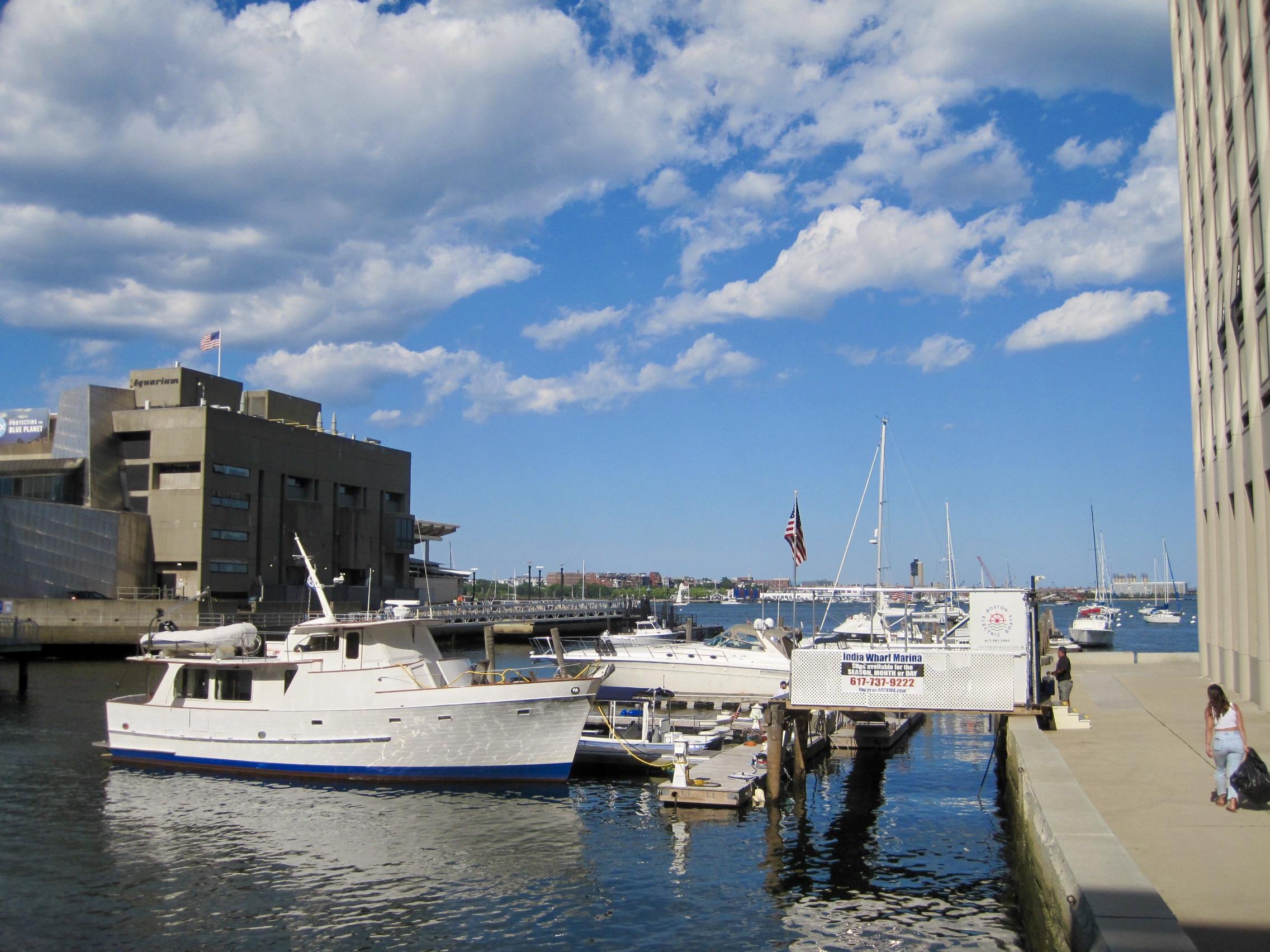 India Wharf near the Harborwalk