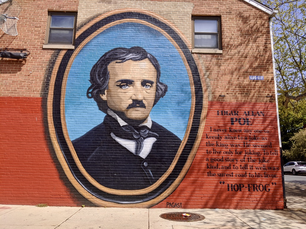 N. 7th St Edgar Allen Poe Mural