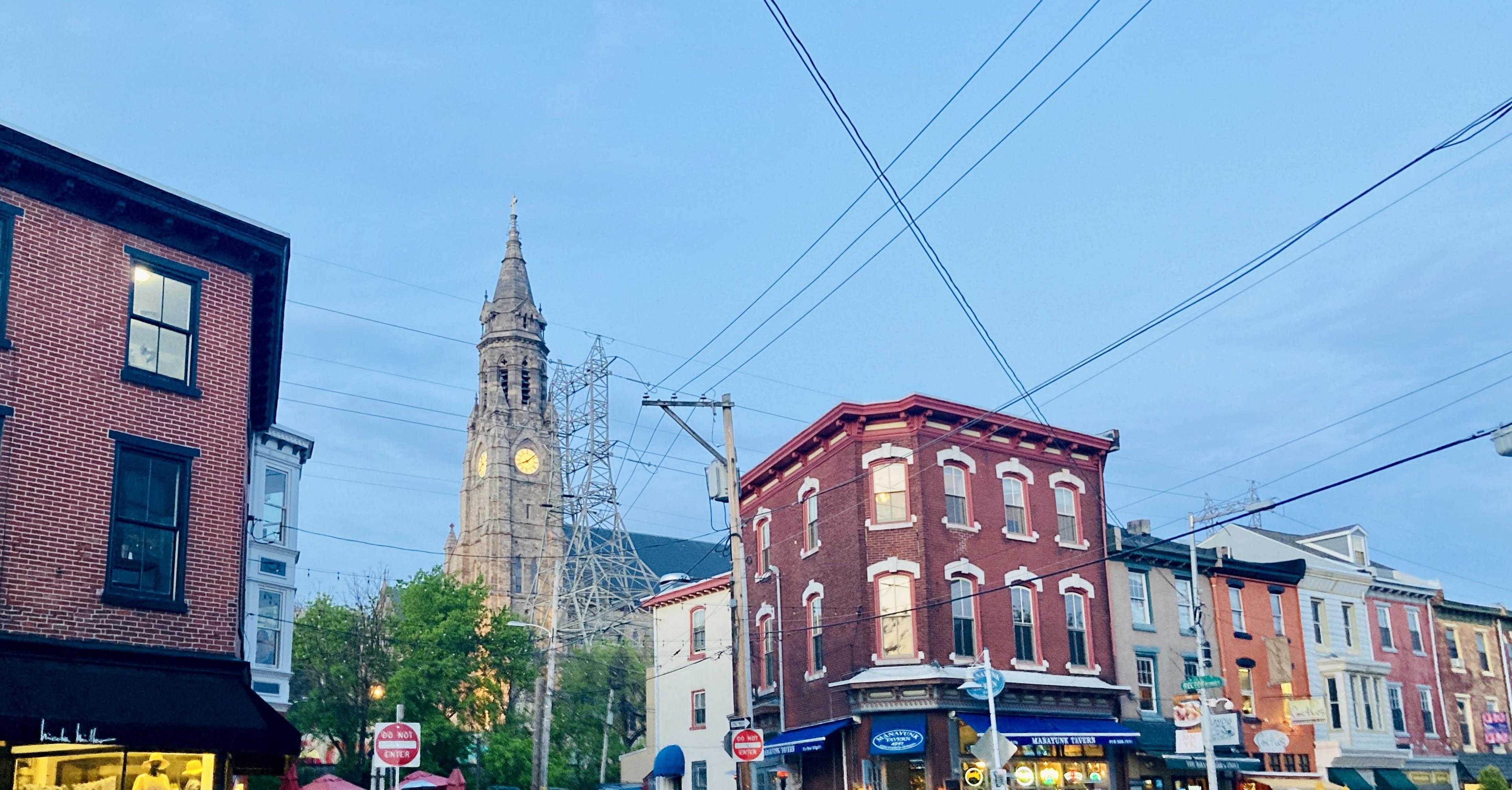 Main St Manayunk and St John the Baptist Church