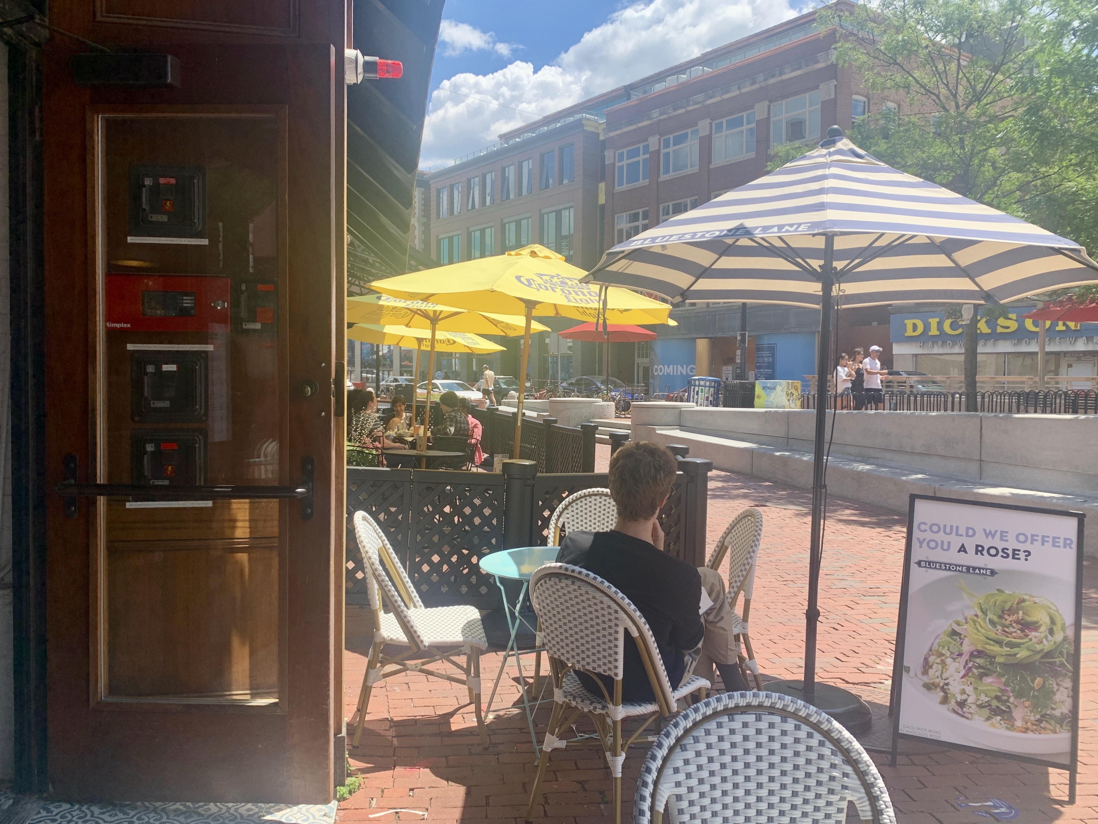 Harvard Square Sidewalk Dining