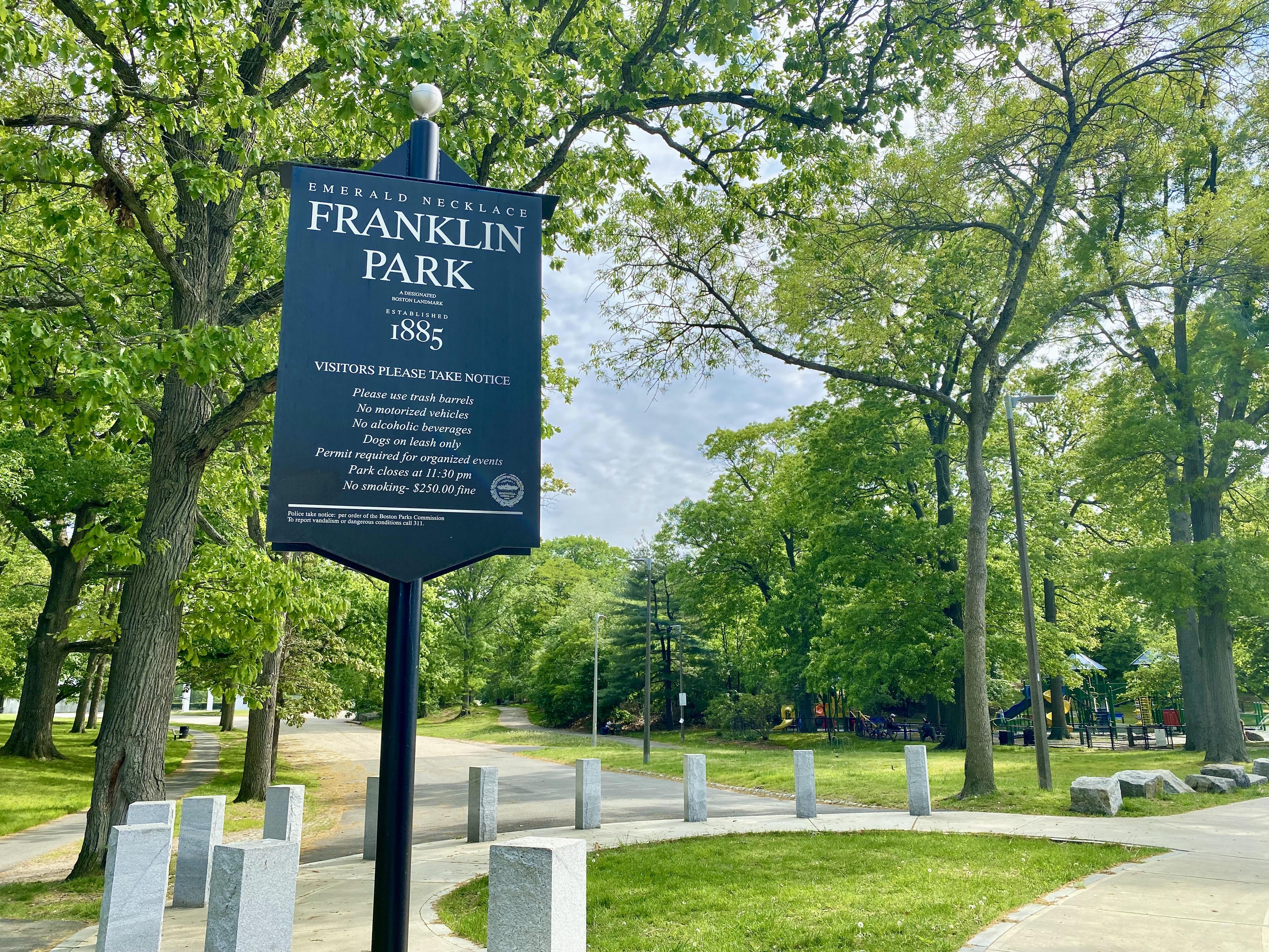 Franklin Park Sign in Boston, MA