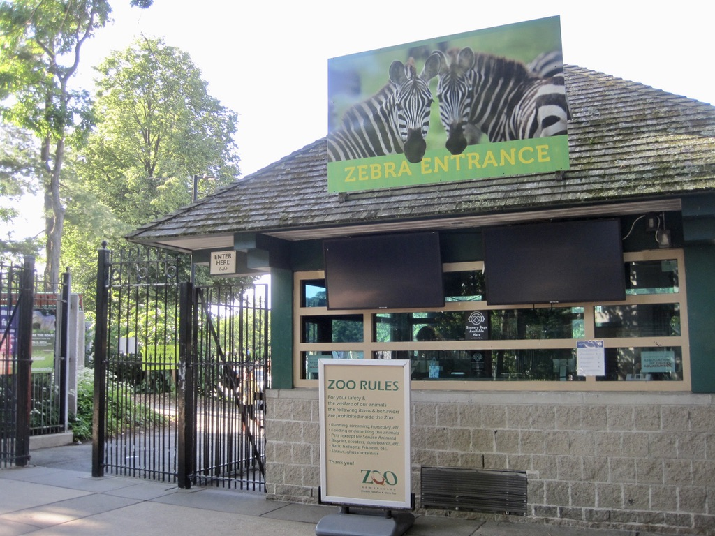 Zebra Entrance at Franklin Park Zoo