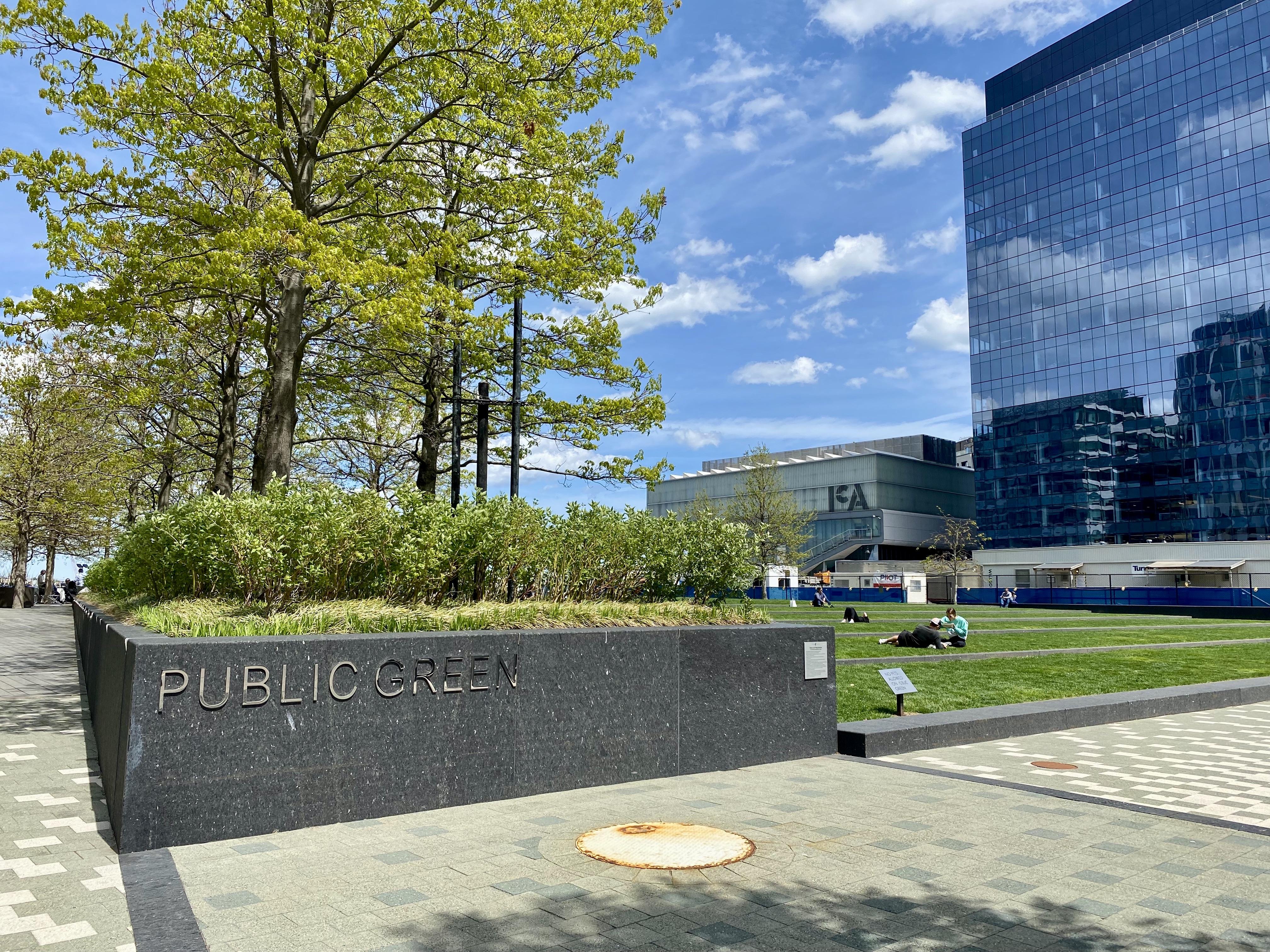 The Public Green near the ICA in Boston's Seaport