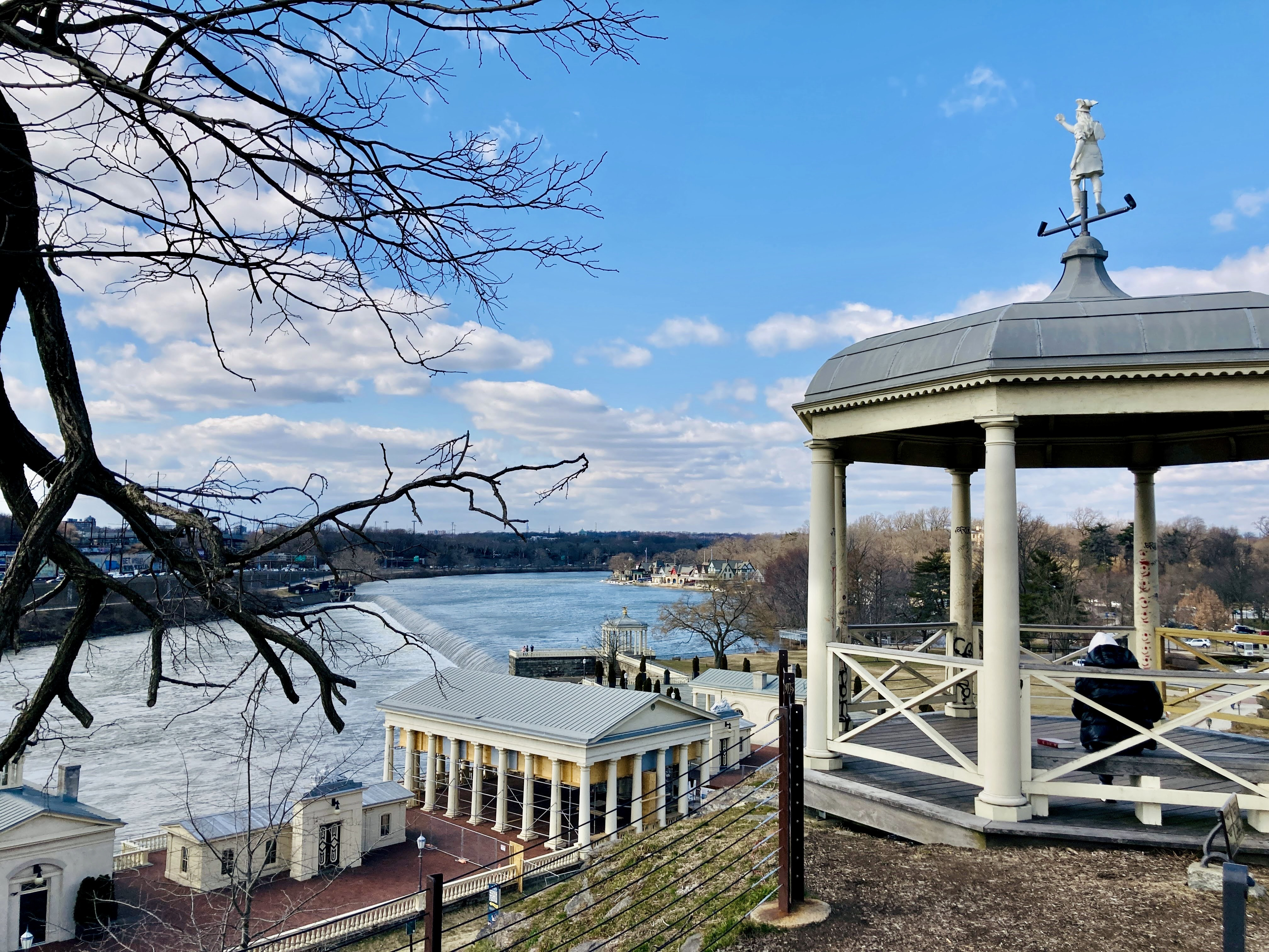 Waterworks and Schuylkill River in Fairmount, PA