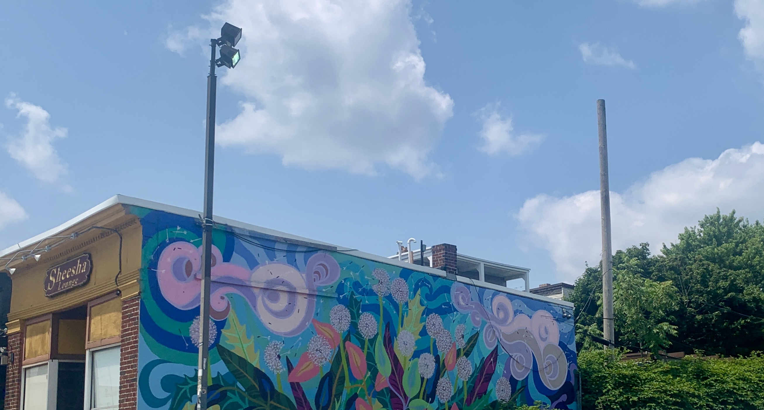 Mural on Comm Ave in Brighton, MA
