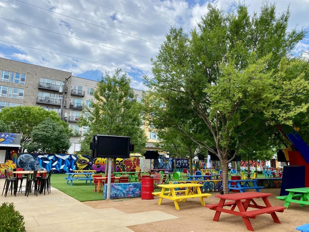 Trinity Groves Beer Garden and Art Park