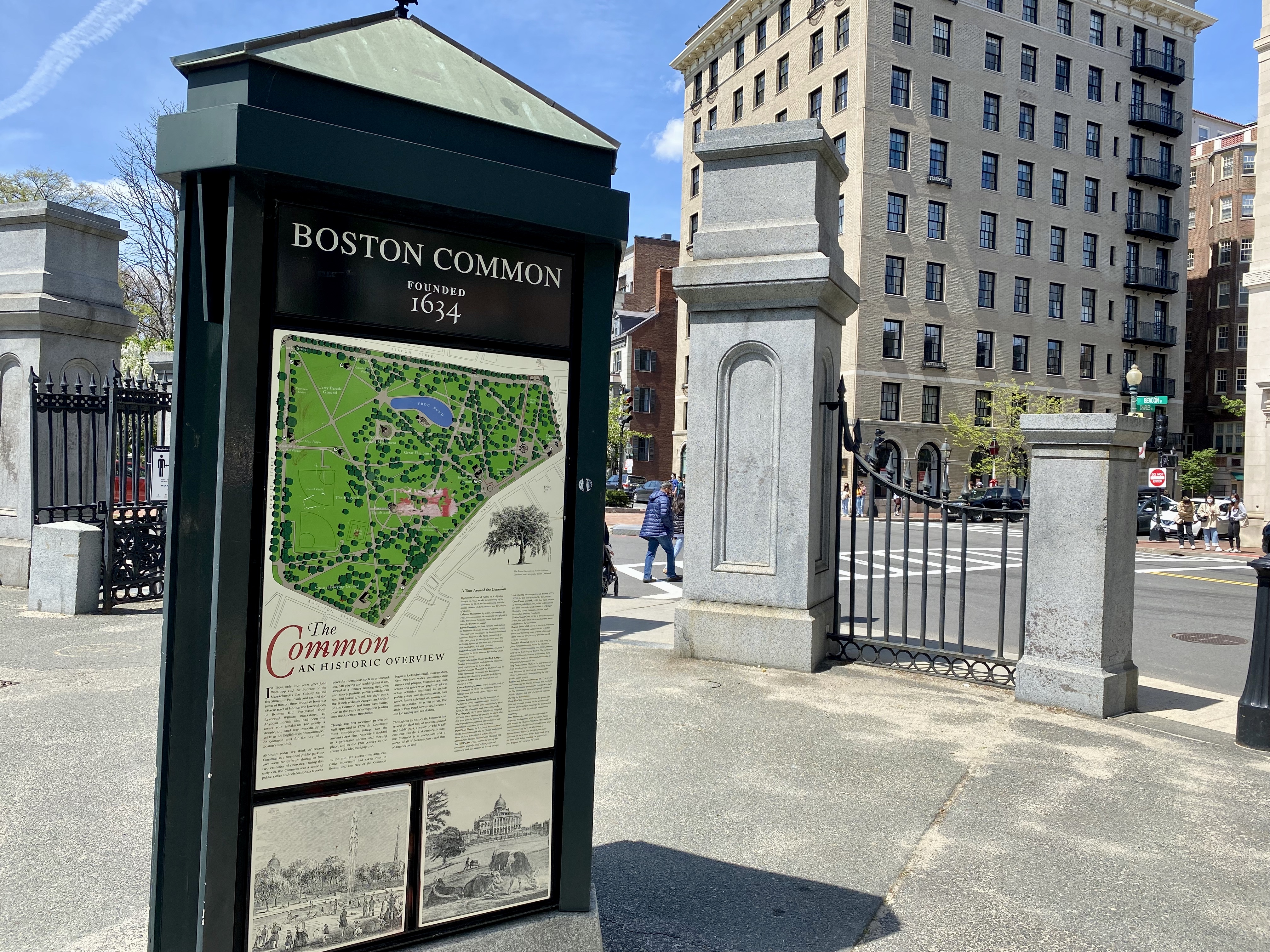 Boston Common Sign in Beacon Hill, MA
