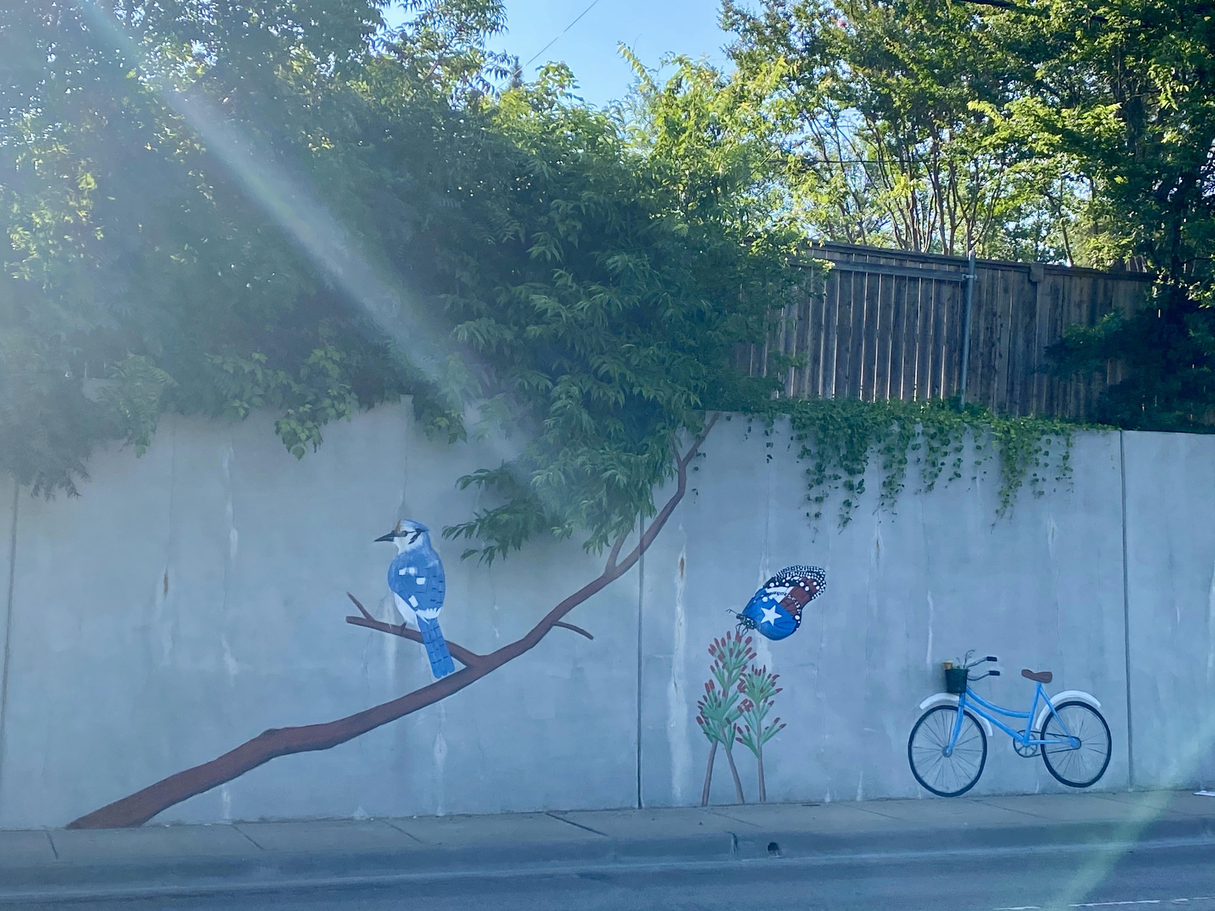 Street Mural on Marsh Ln in North Dallas