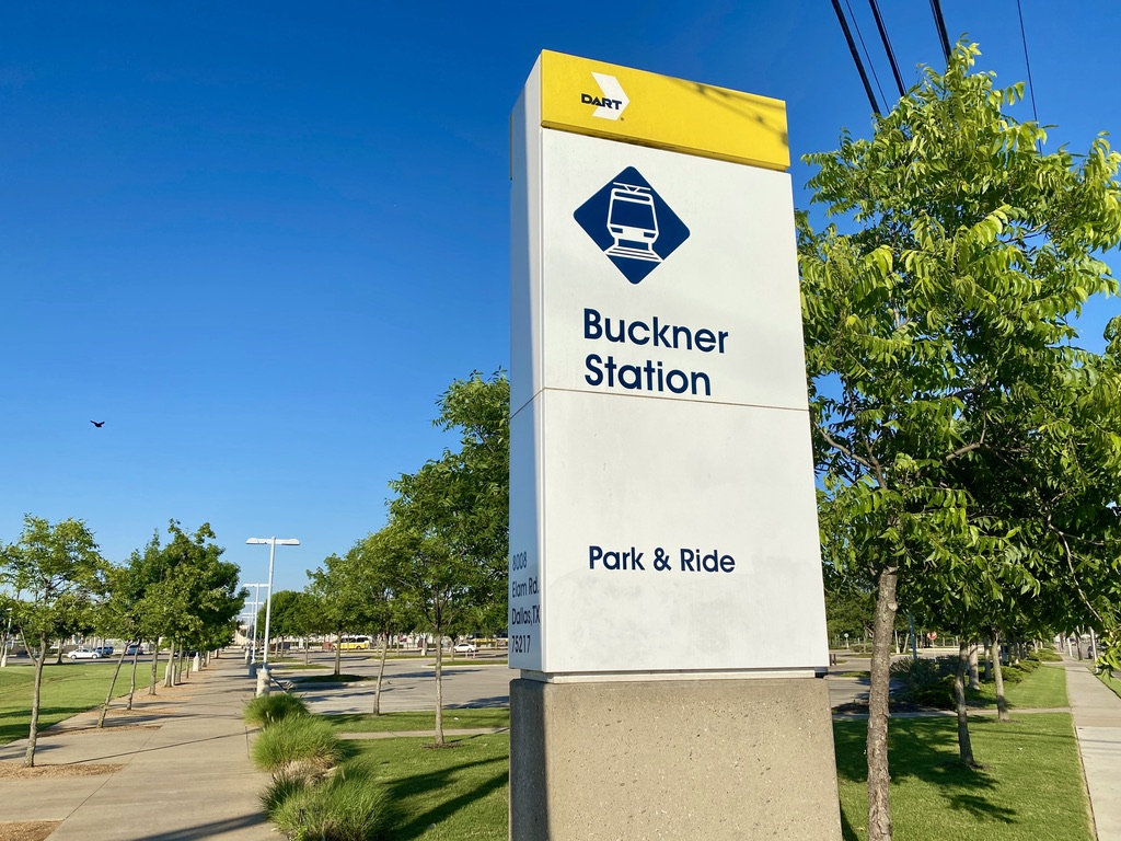 Buckner DART Station in Pleasant Grove, TX