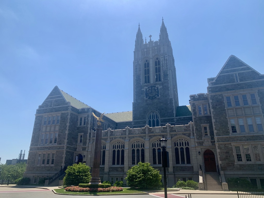 Gasson Hall on Boston College's Chestnut Hill Campus