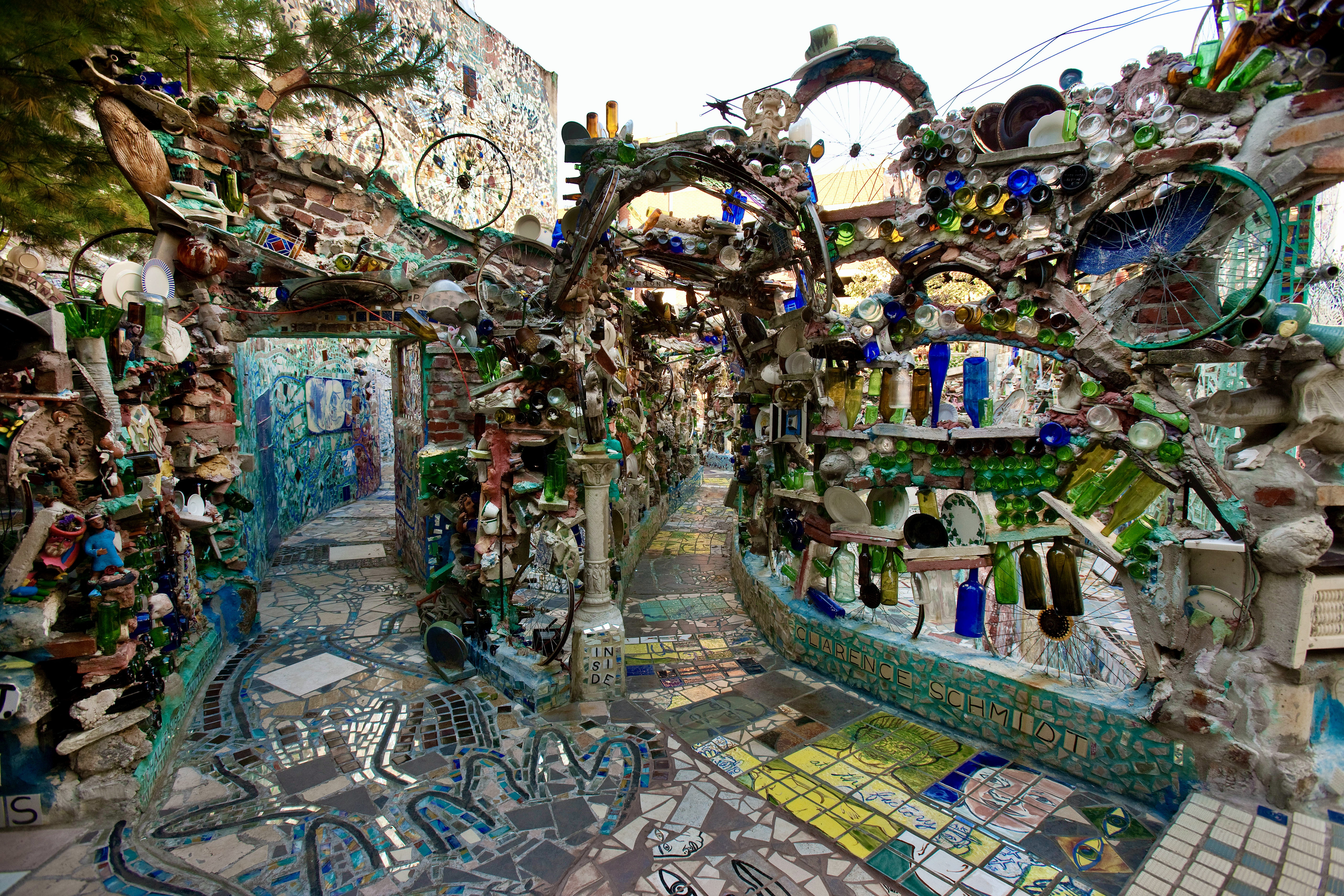 Philadelphia Magic Gardens Courtyard