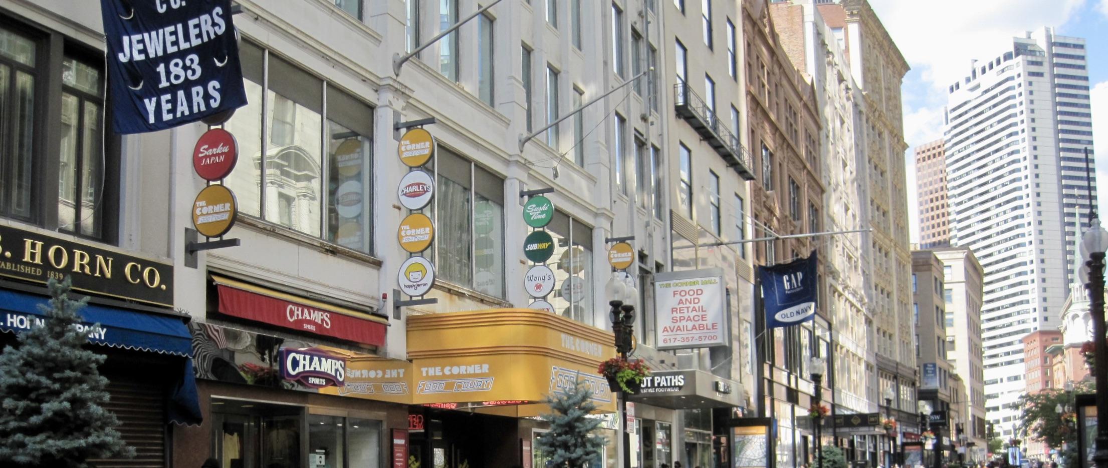 Washington Street Shops in Downtown Crossing