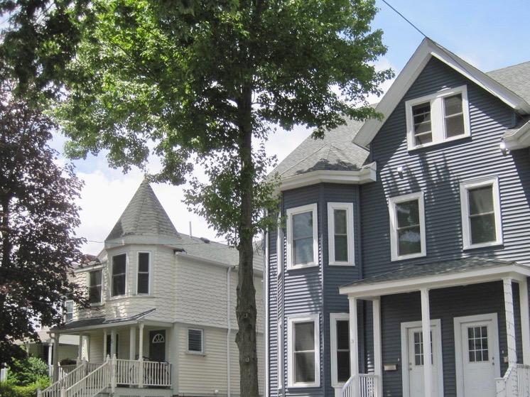 A Residential Street in Boston's Brighton Neighborhood