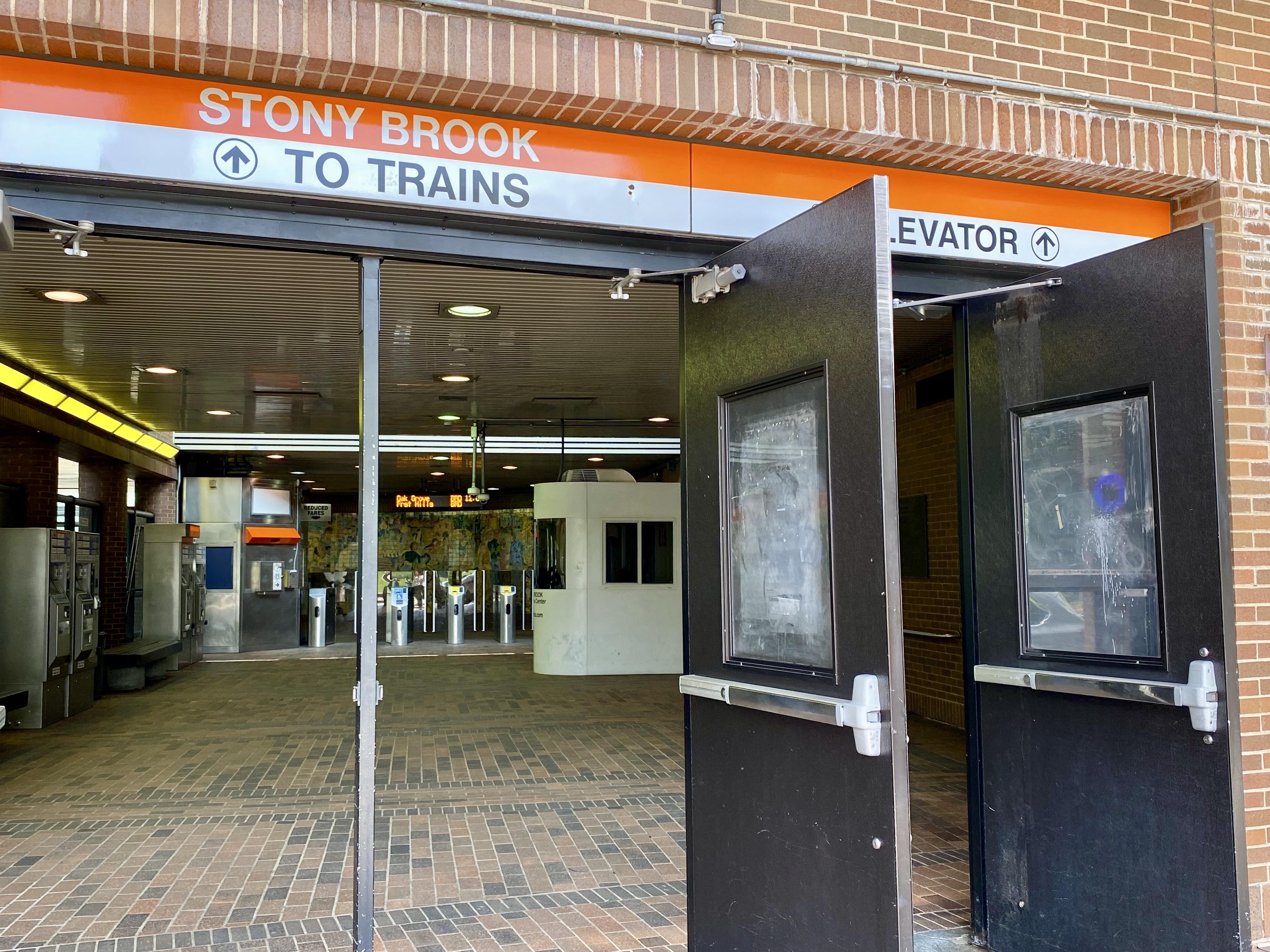 Stony Brook Orange Line Station in Jamaica Plain