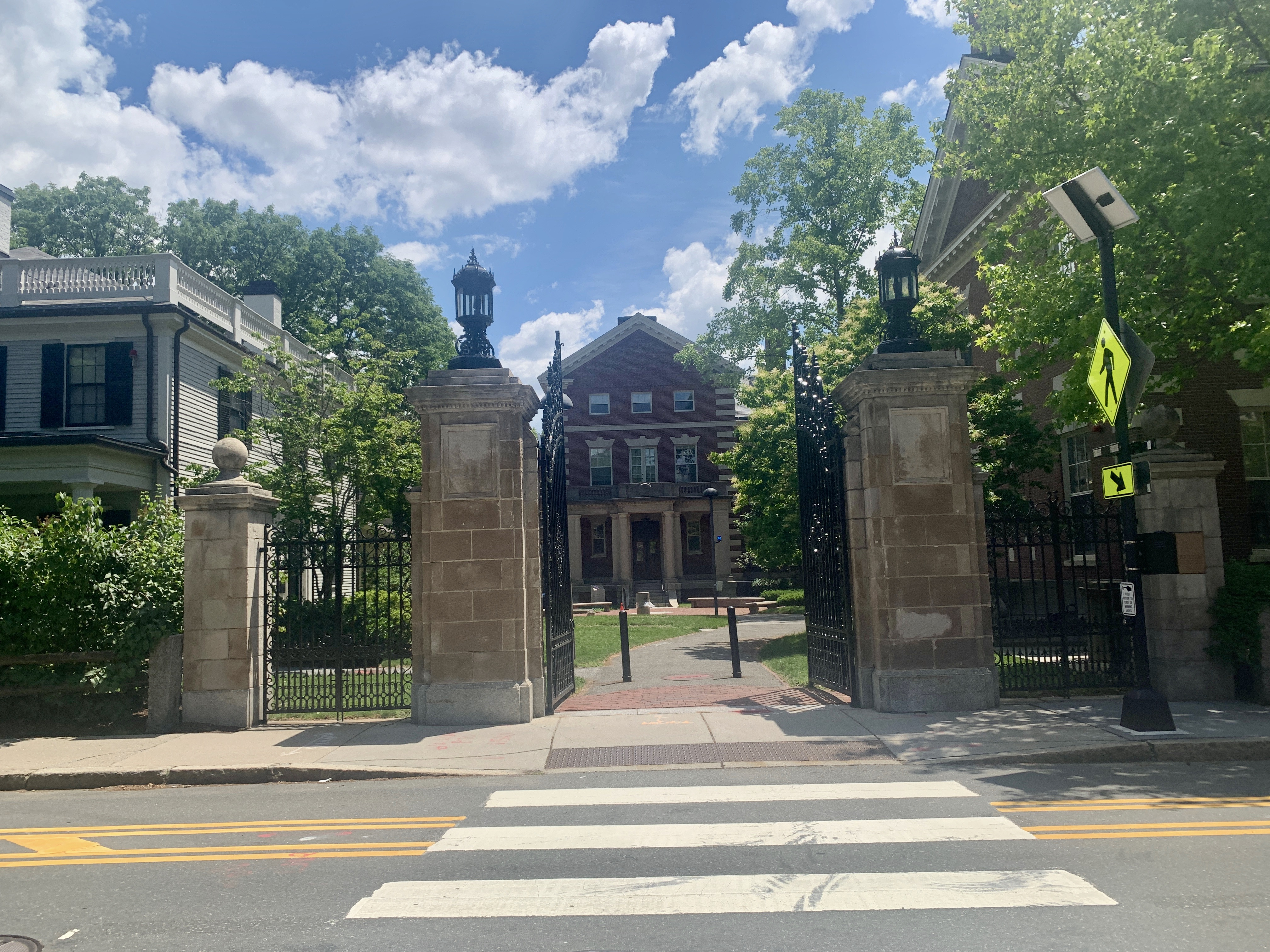Stone Gates of Harvard University in Cambridge, MA