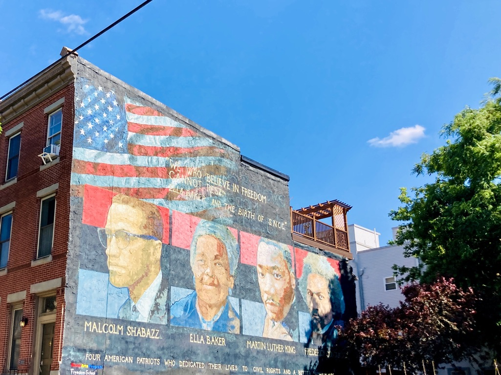 """""""Freedom School"""" Mural in Philly's Brewerytown"""
