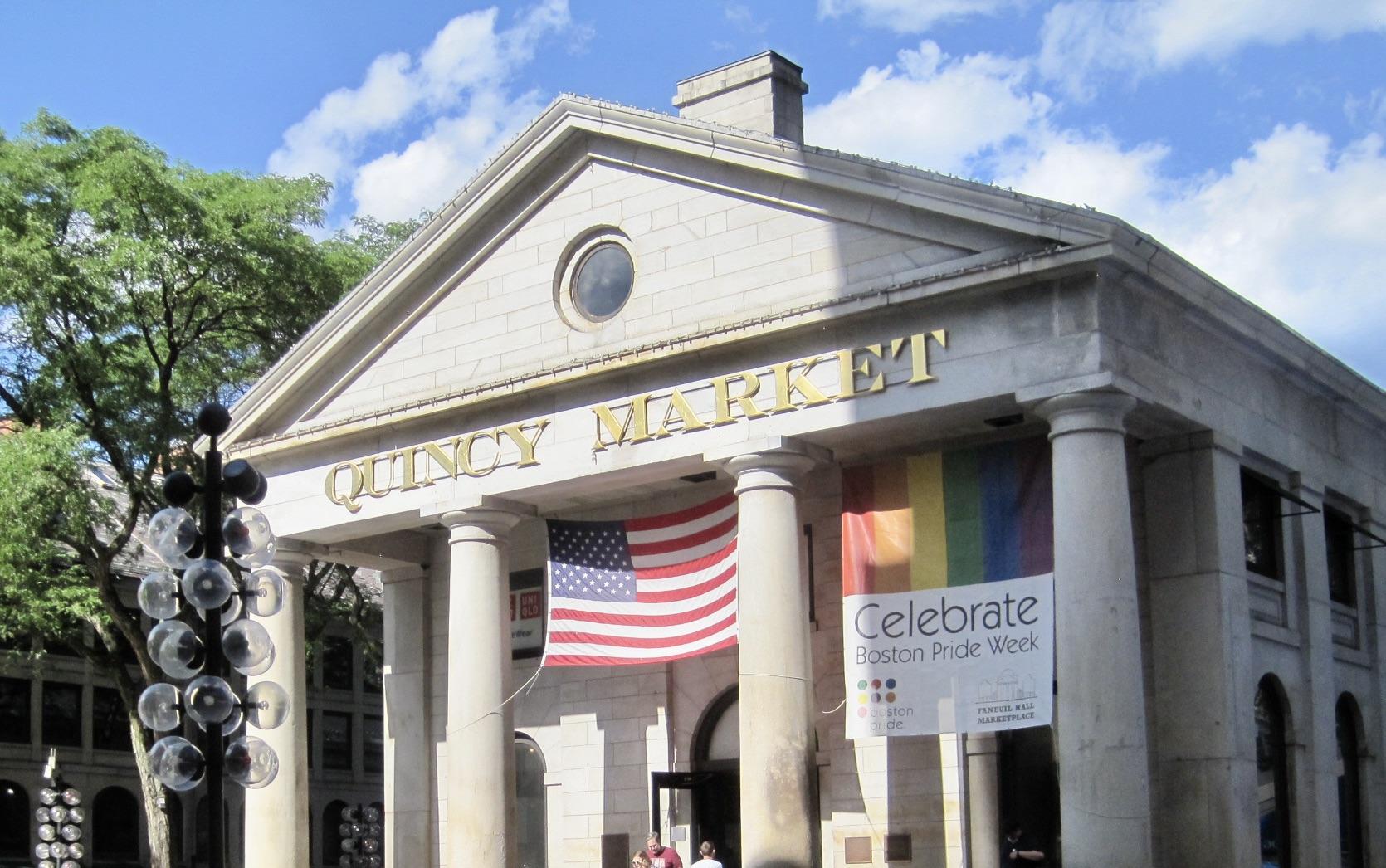 Quincy Market in Downtown Boston, MA