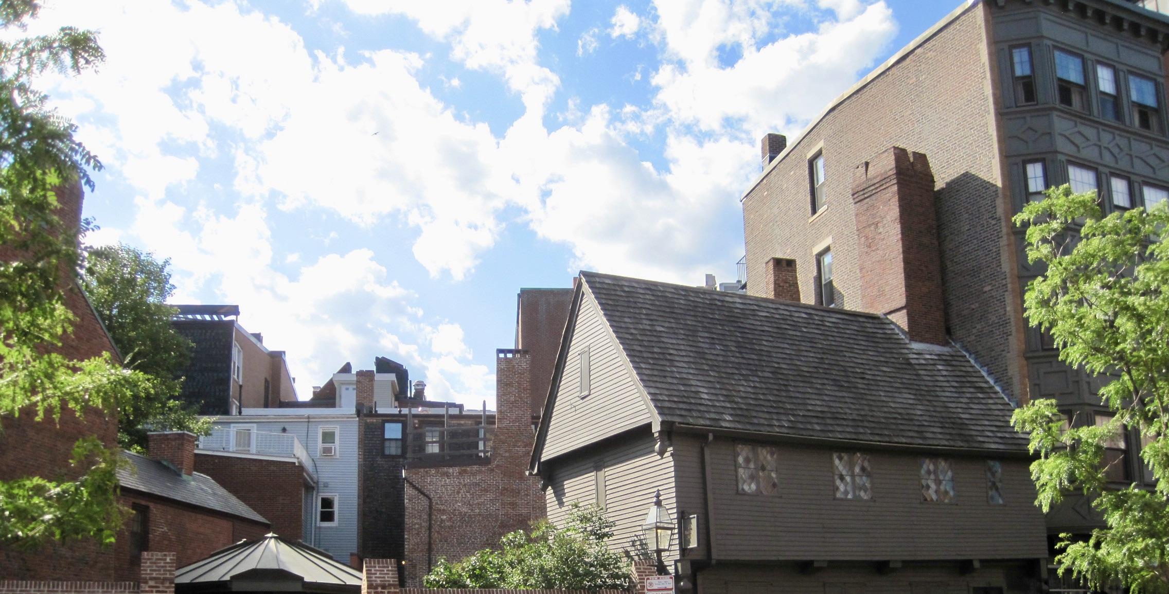 The Paul Revere House in Boston, MA