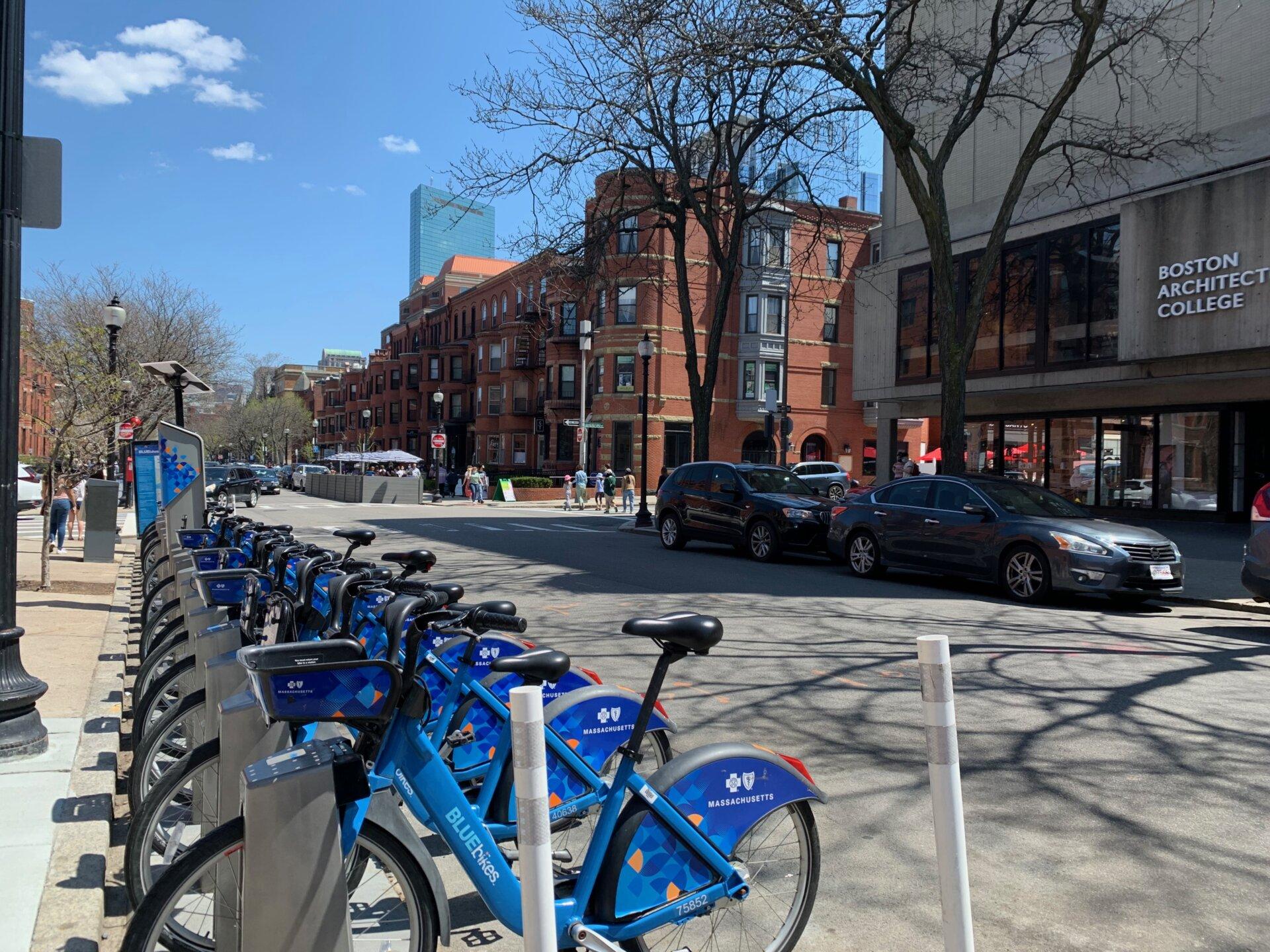 Bluebikes on Newbury Street