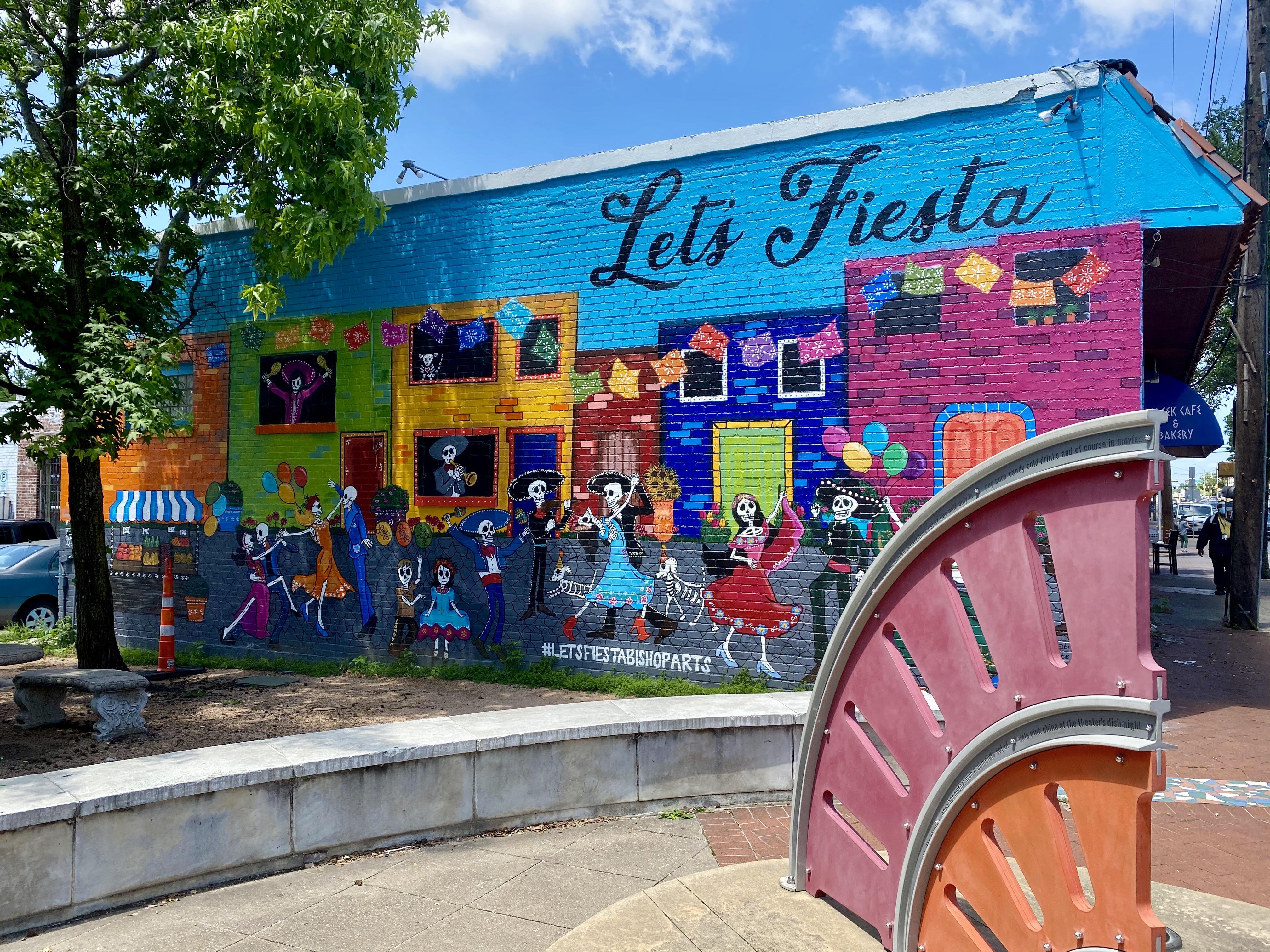 """""""Let's Fiesta"""" Mural on W Davis Street"""