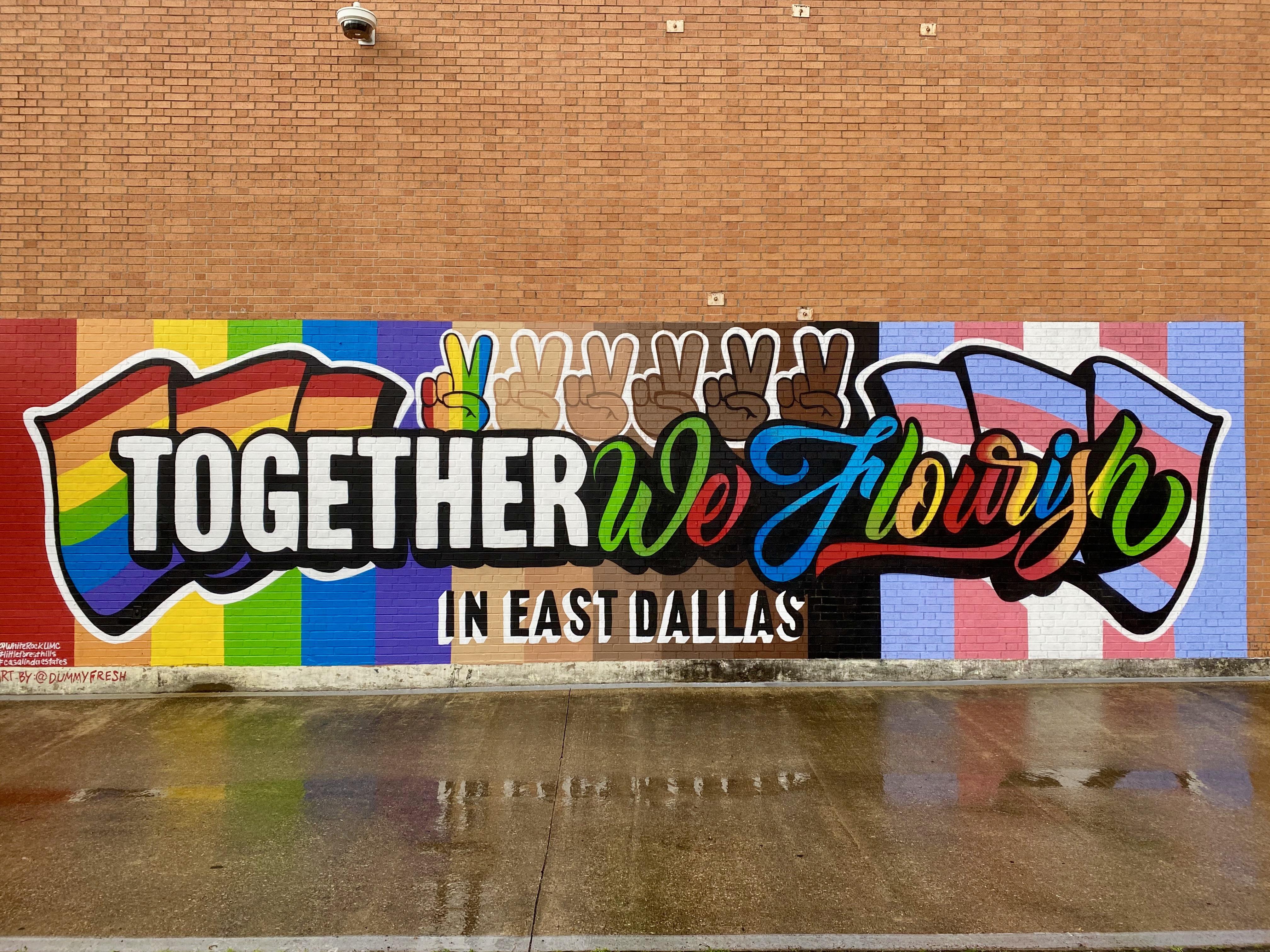 Mural in White Rock Lake, East Dallas, TX