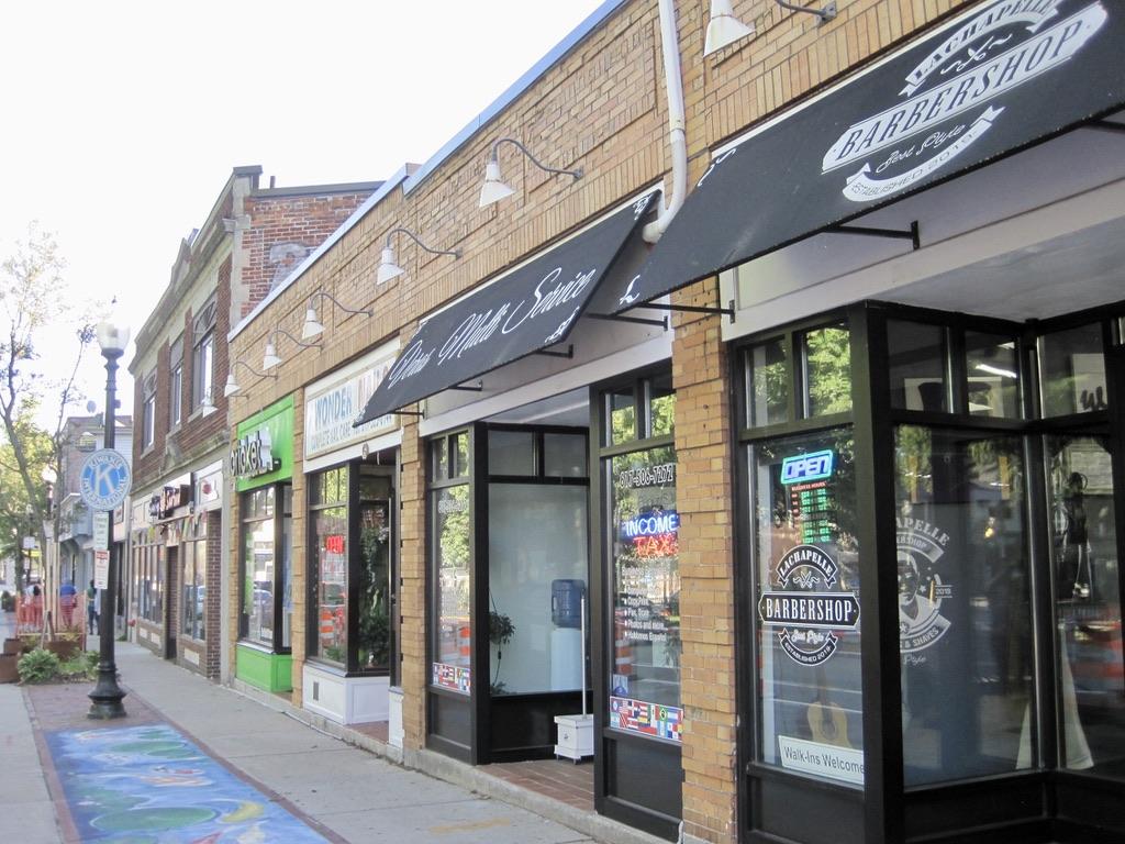 Roslindale Village Storefronts in Boston, MA