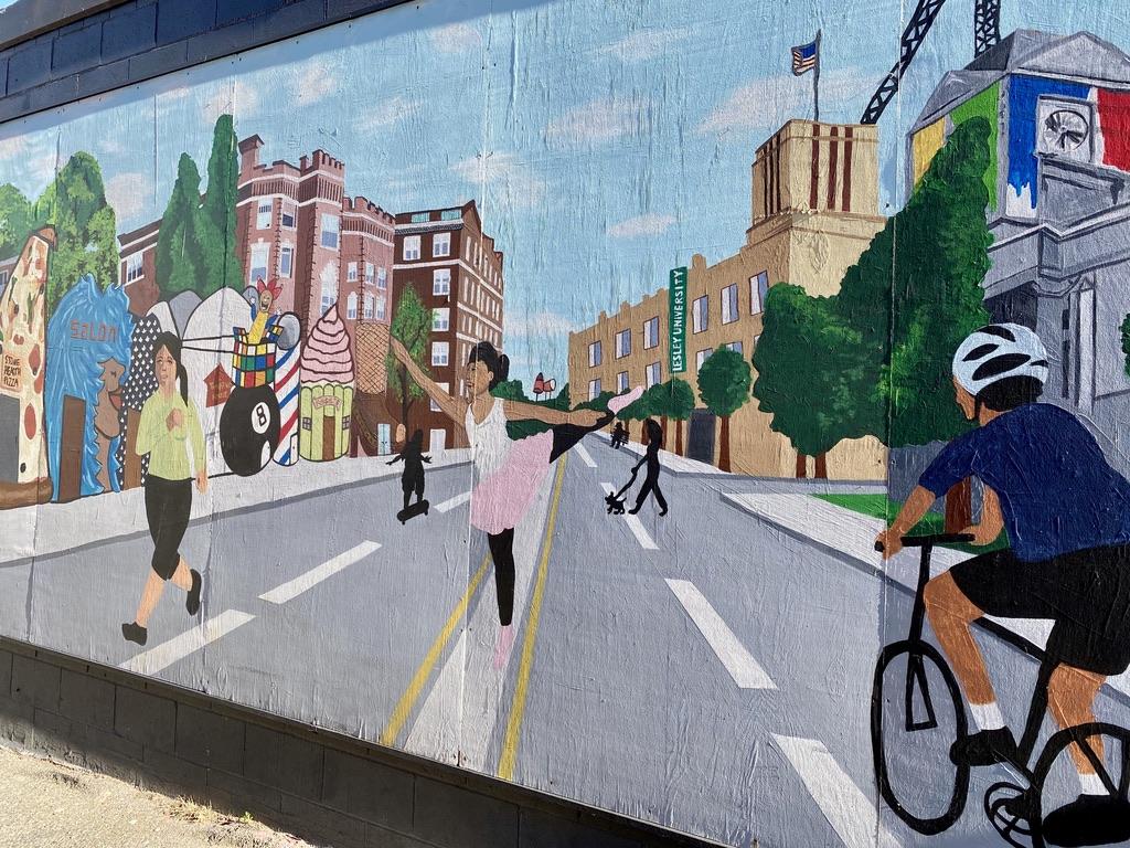 Porter Square Mural near Mass Ave