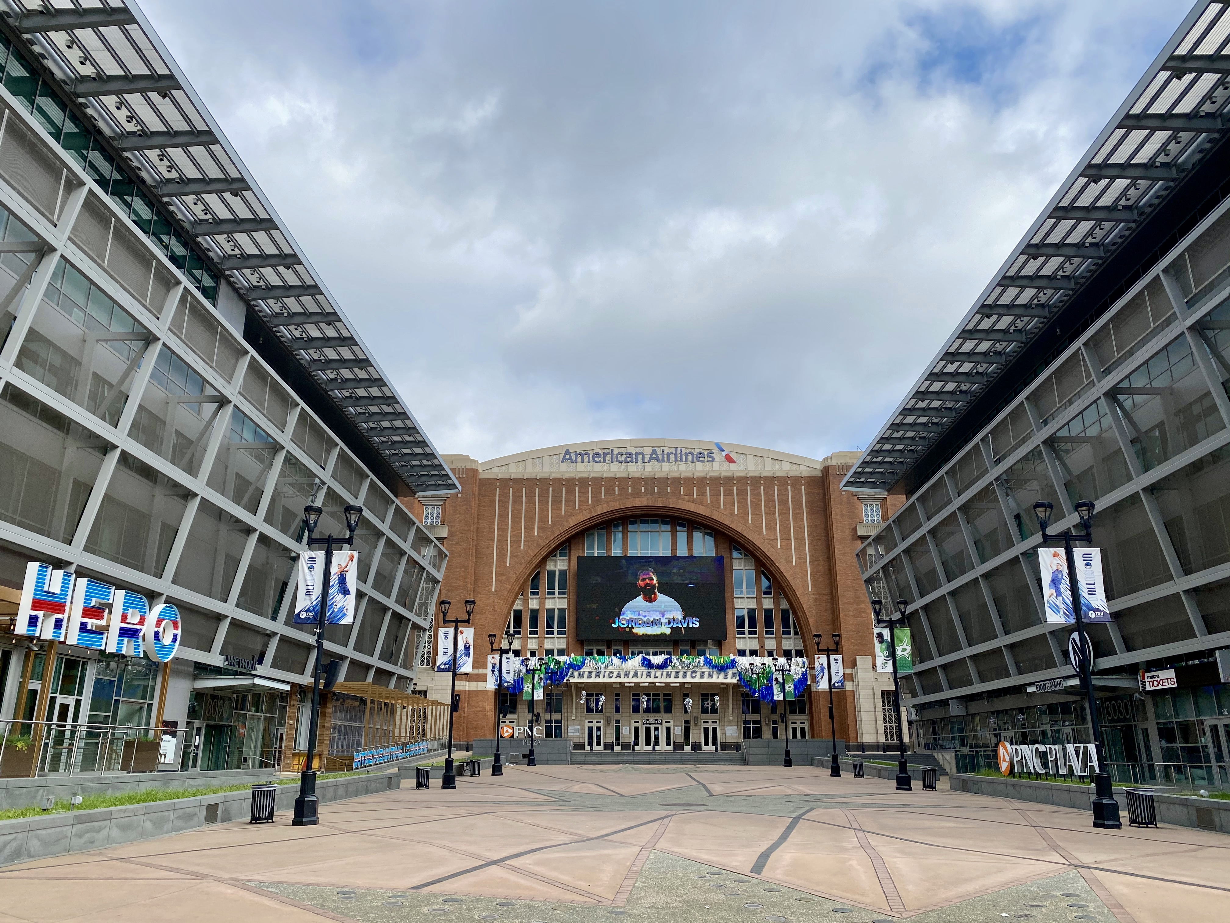 American Airlines Center in Victory Park, Dallas, TX